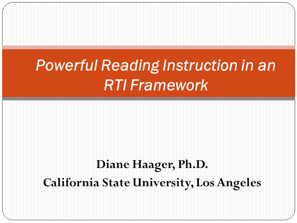 Powerful Reading Instruction in an RTI Framework