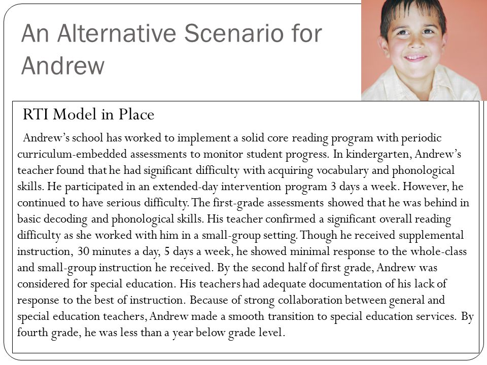 An Alternative Scenario for Andrew