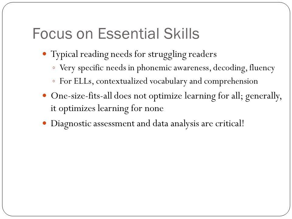 Focus on Essential Skills