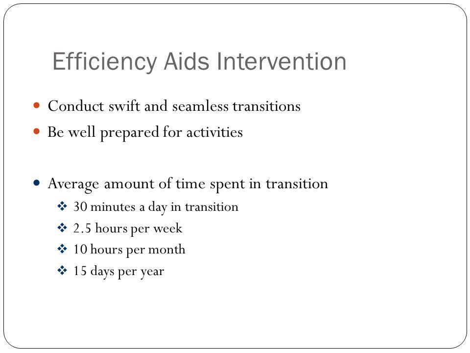 Efficiency Aids Intervention