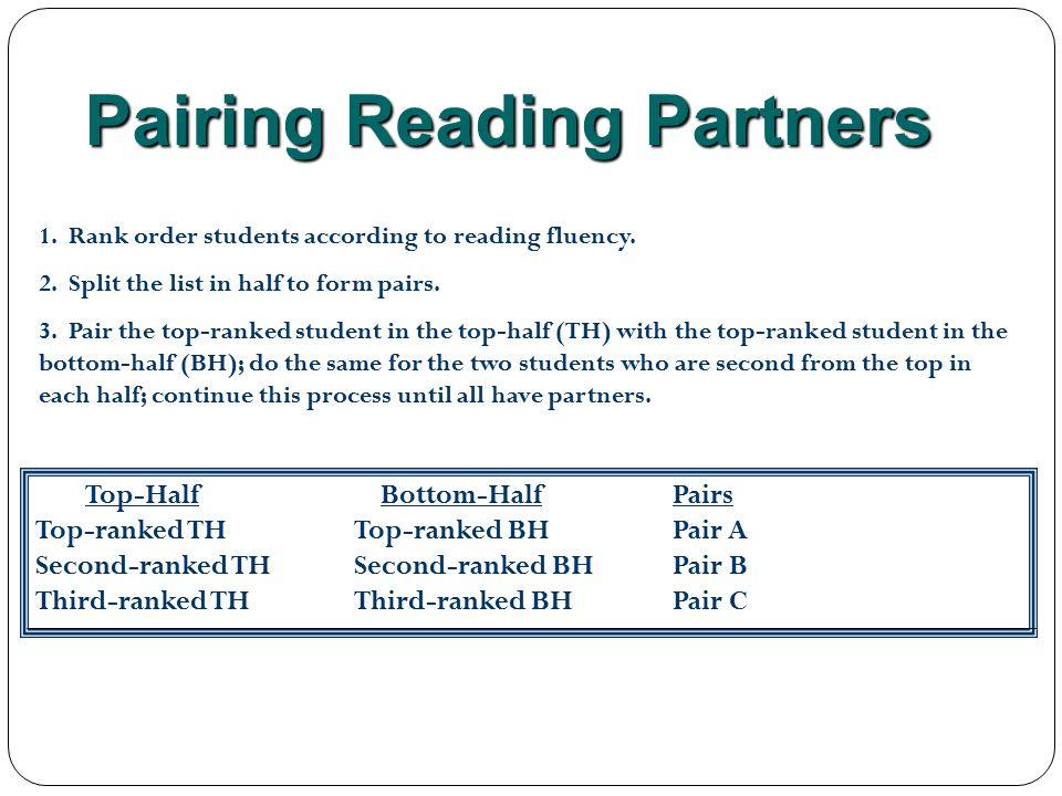 Pairing Reading Partners