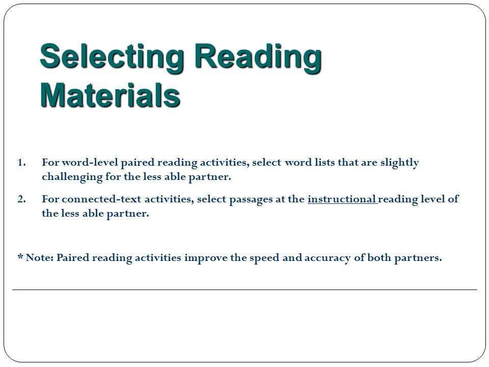Selecting Reading Materials