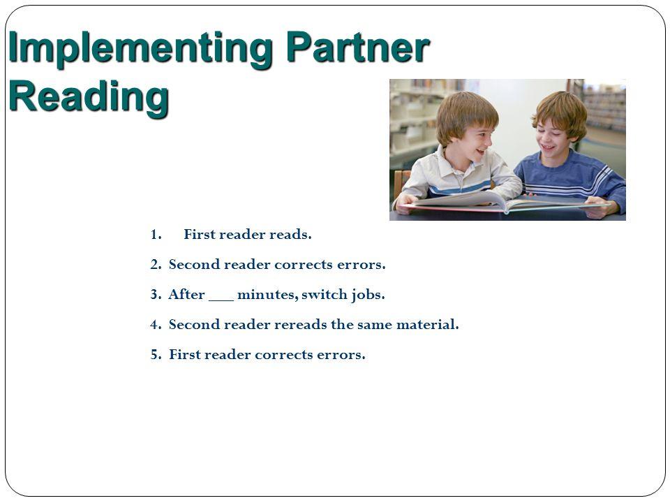 Implementing Partner Reading