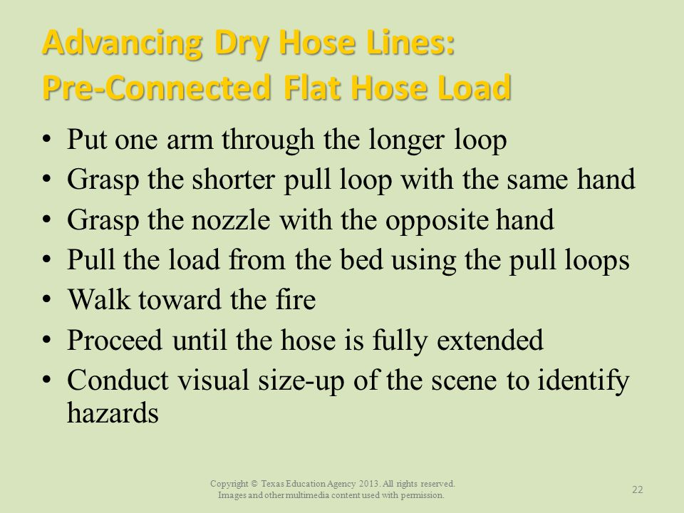 Advancing Dry Hose Lines: Pre-Connected Flat Hose Load