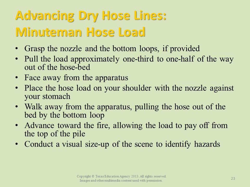 Advancing Dry Hose Lines: Minuteman Hose Load