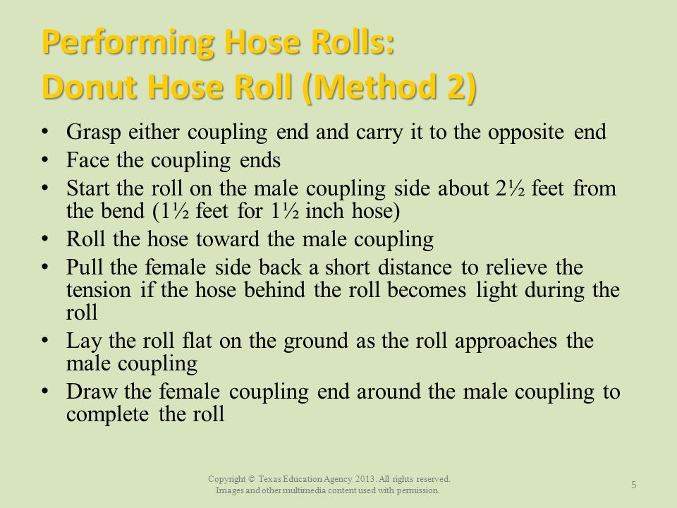 Performing Hose Rolls: Donut Hose Roll (Method 2)