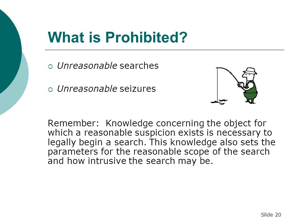 What is Prohibited Unreasonable searches Unreasonable seizures