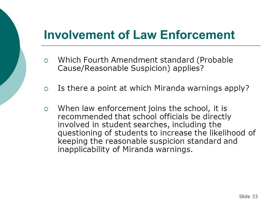 Reasonable Suspicion School Searches STUDENT SEARCHE...
