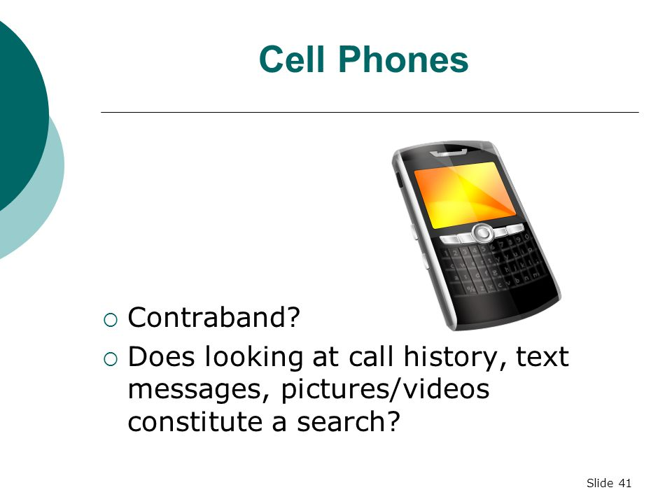 Cell Phones Contraband