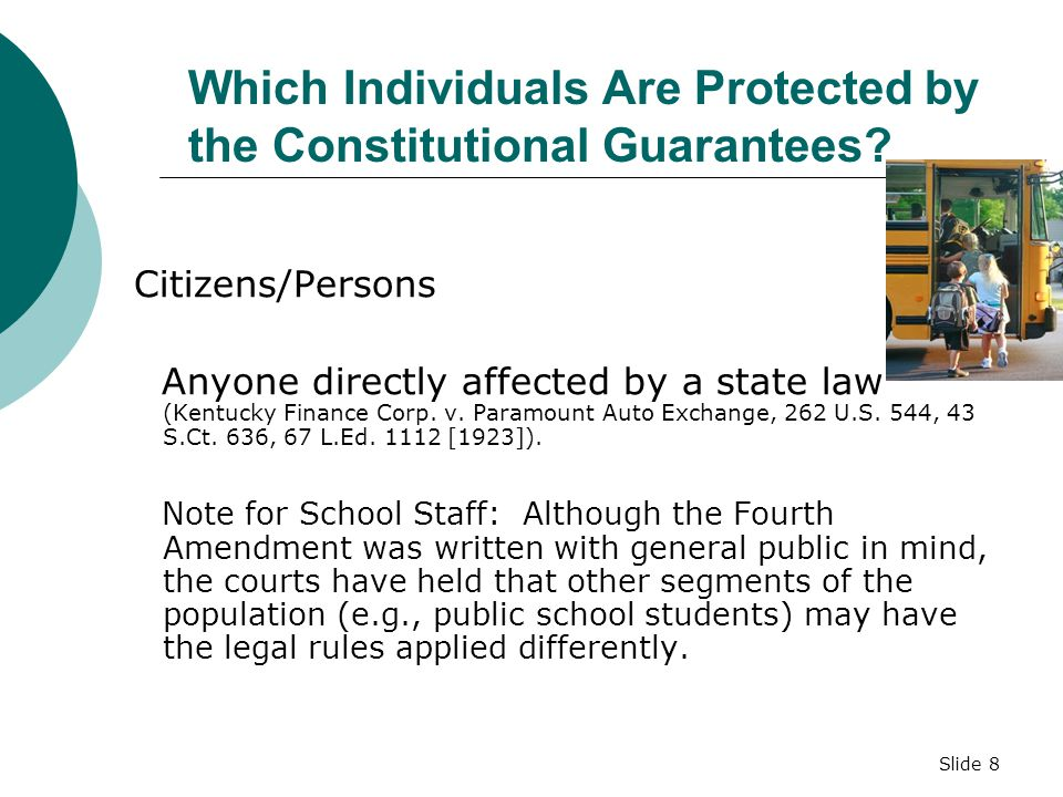 Which Individuals Are Protected by the Constitutional Guarantees