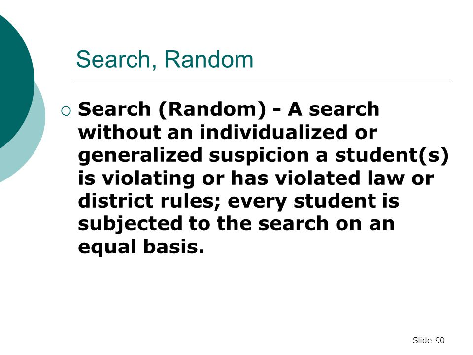Search, Random