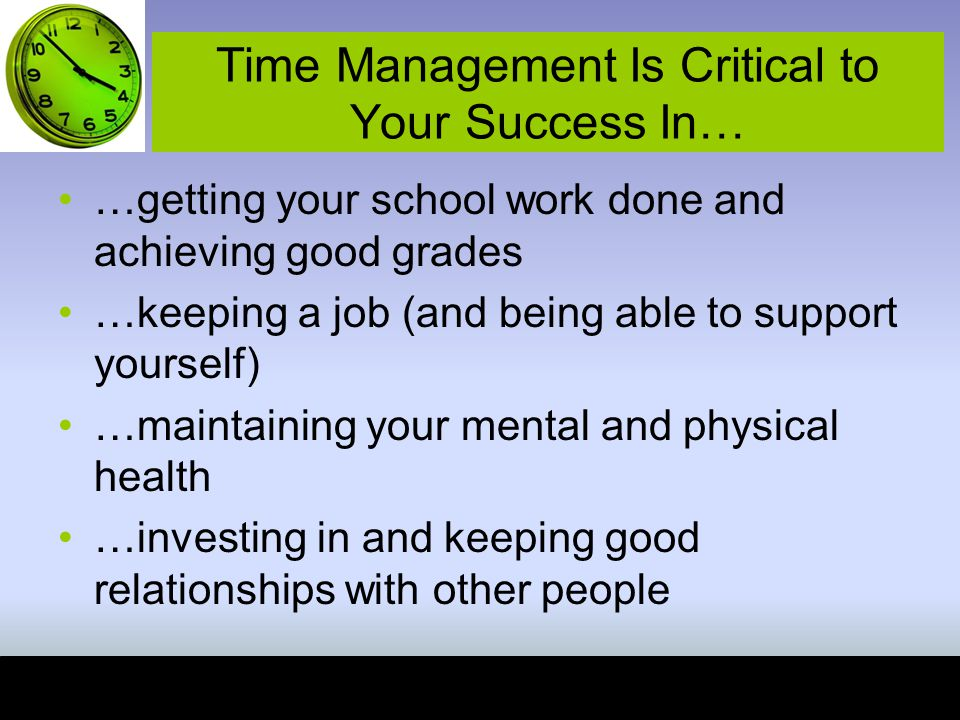 Time Management Is Critical to Your Success In…