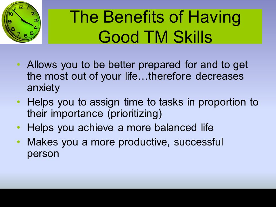 The Benefits of Having Good TM Skills