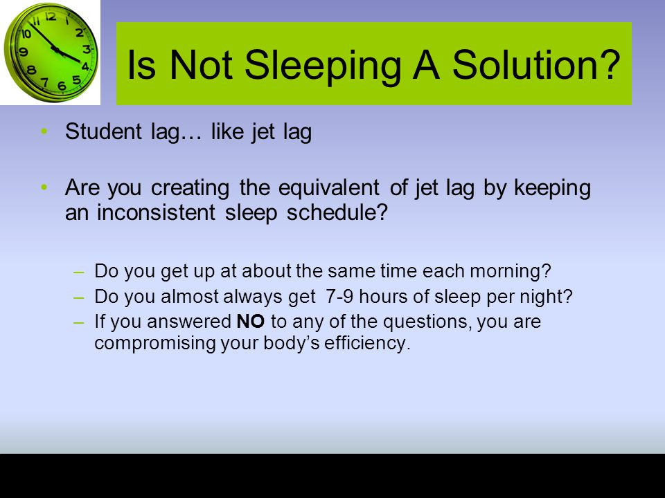Is Not Sleeping A Solution