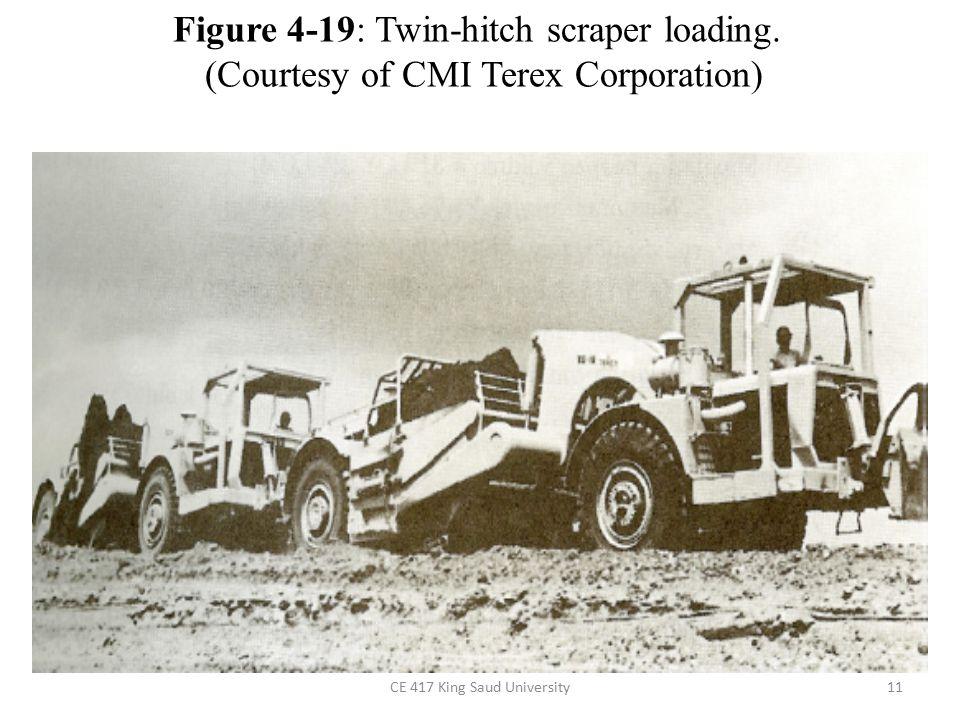 Figure 4-19: Twin-hitch scraper loading.