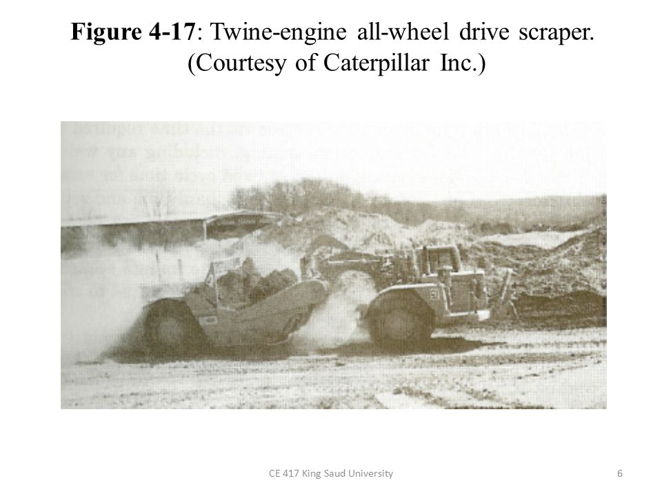 Figure 4-17: Twine-engine all-wheel drive scraper.