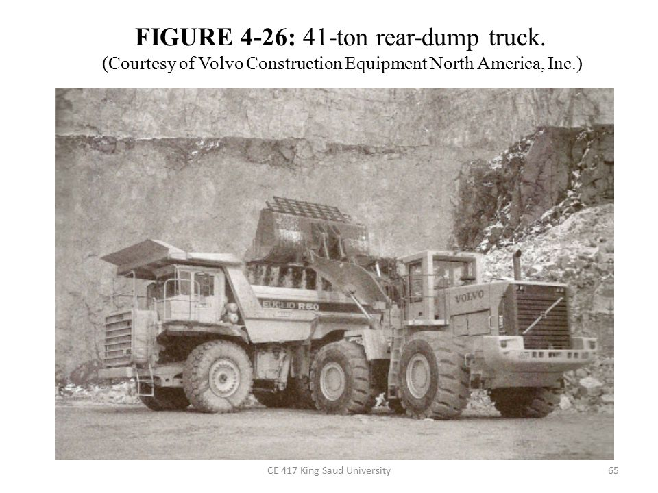 FIGURE 4-26: 41-ton rear-dump truck.