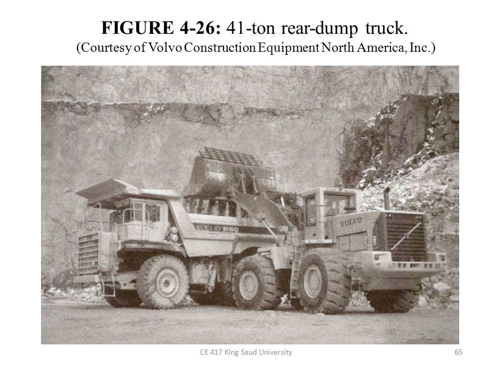 FIGURE 4-26: 41-ton rear-dump truck.