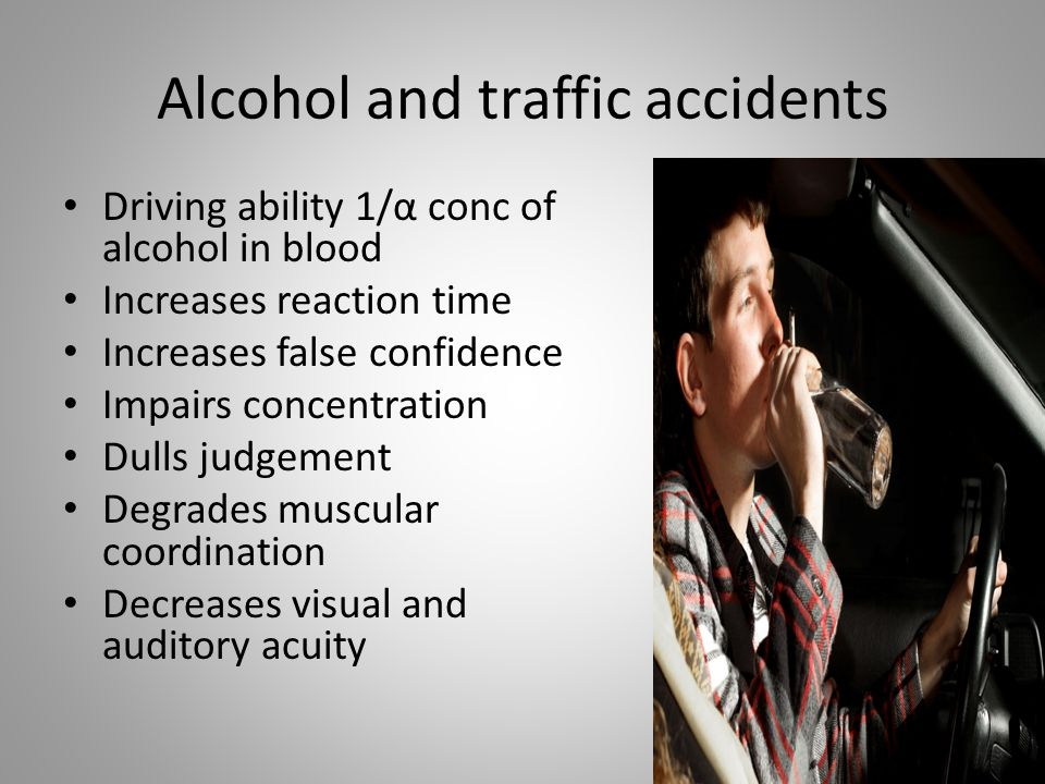 Alcohol and traffic accidents