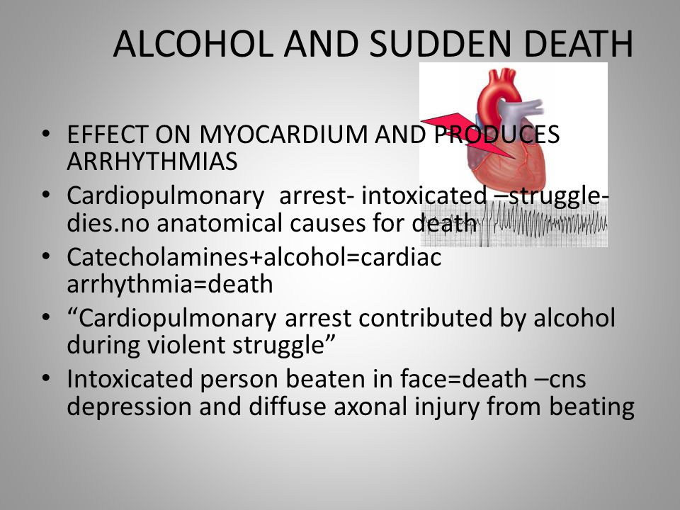 ALCOHOL AND SUDDEN DEATH