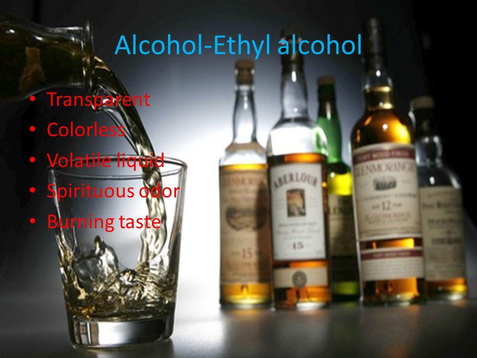 Alcohol-Ethyl alcohol