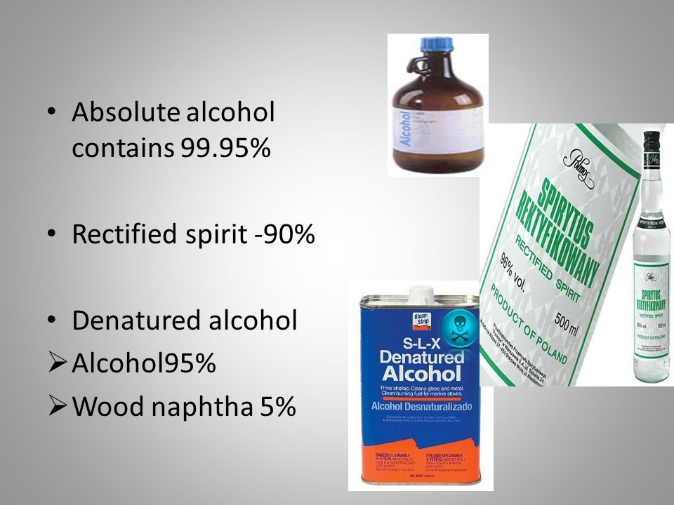 Absolute alcohol contains 99.95%