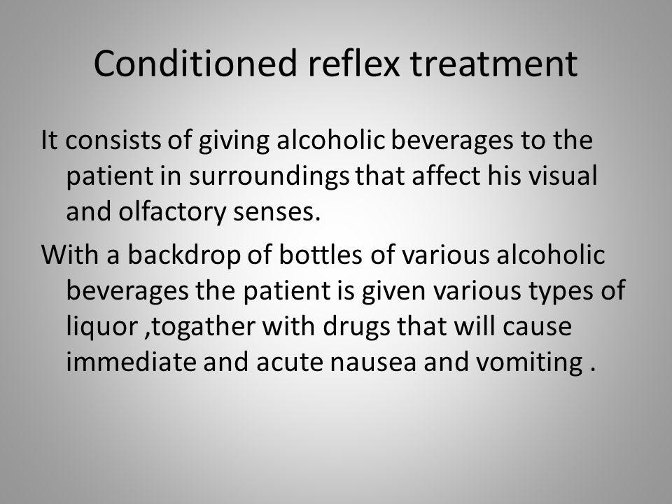 Conditioned reflex treatment
