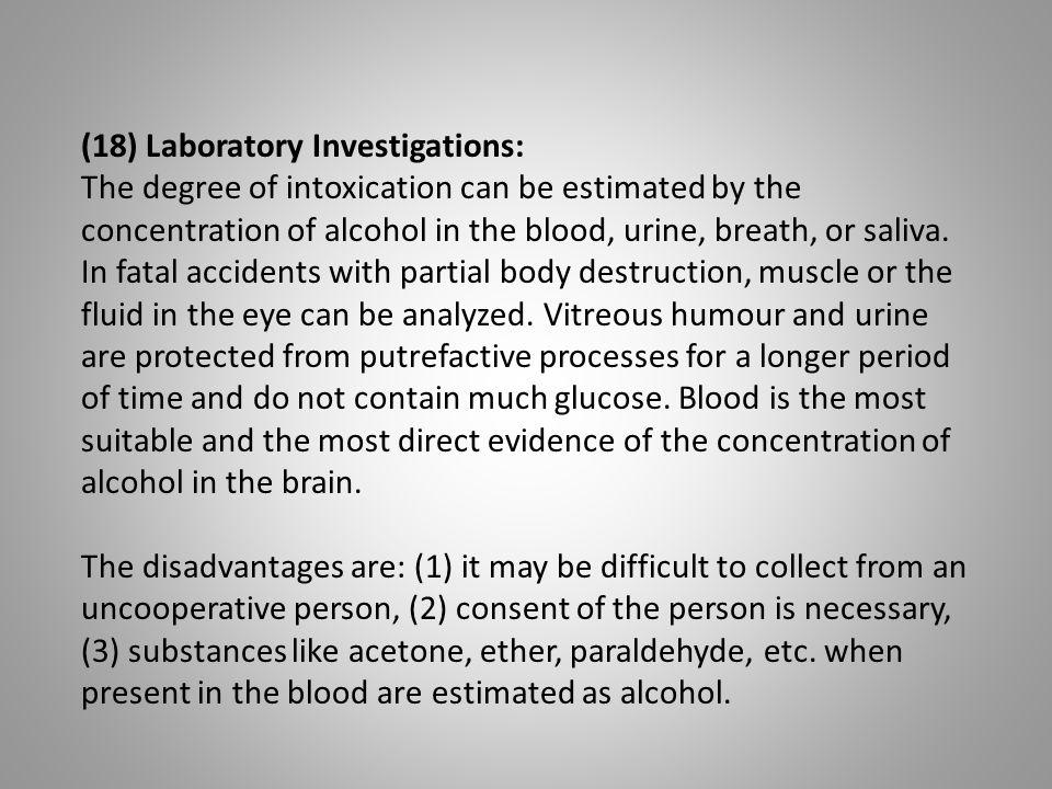 (18) Laboratory Investigations: