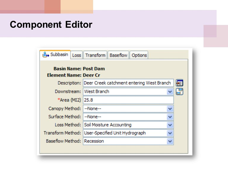 Component Editor