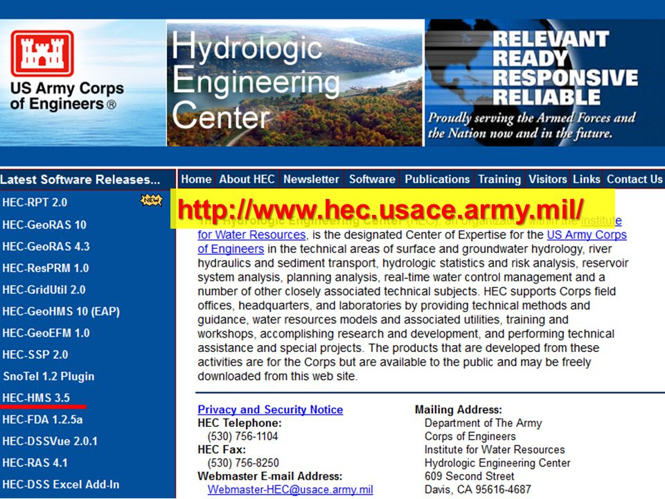 http://www.hec.usace.army.mil/