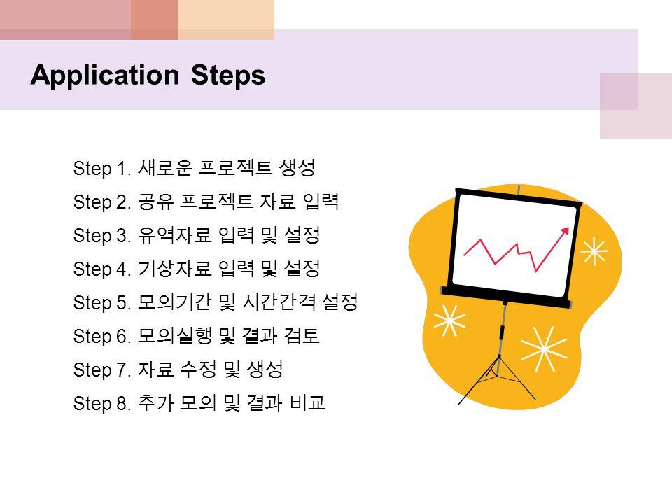 Application Steps Step 1. 새로운 프로젝트 생성 Step 2. 공유 프로젝트 자료 입력