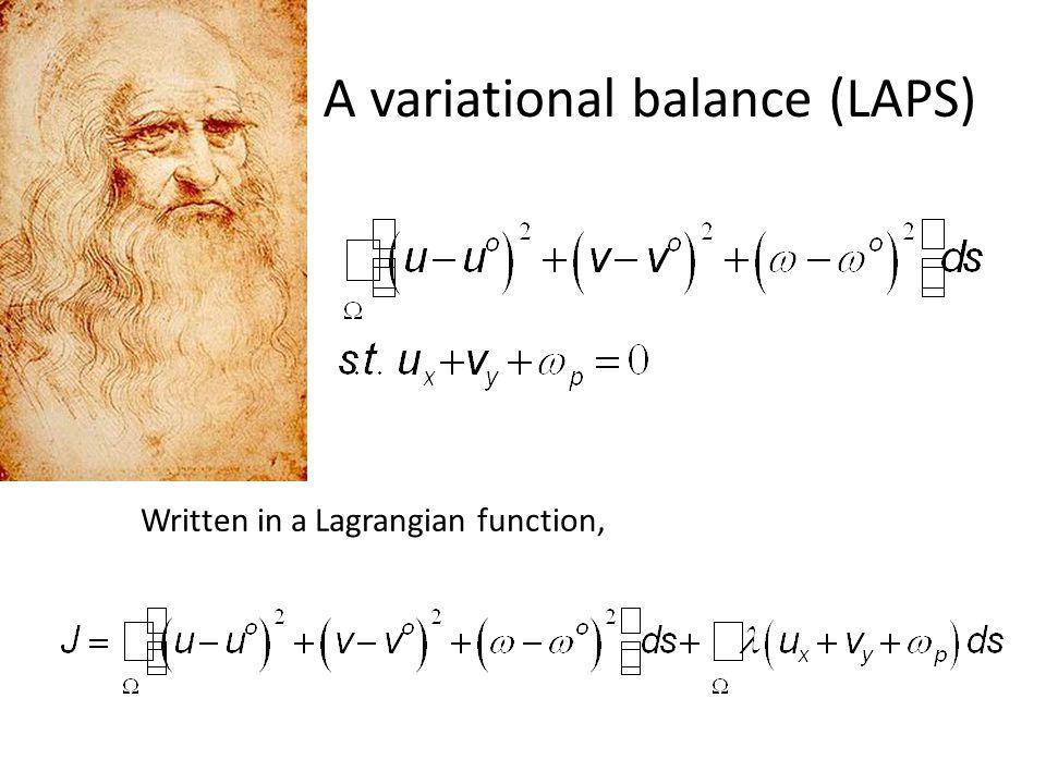 A variational balance (LAPS)
