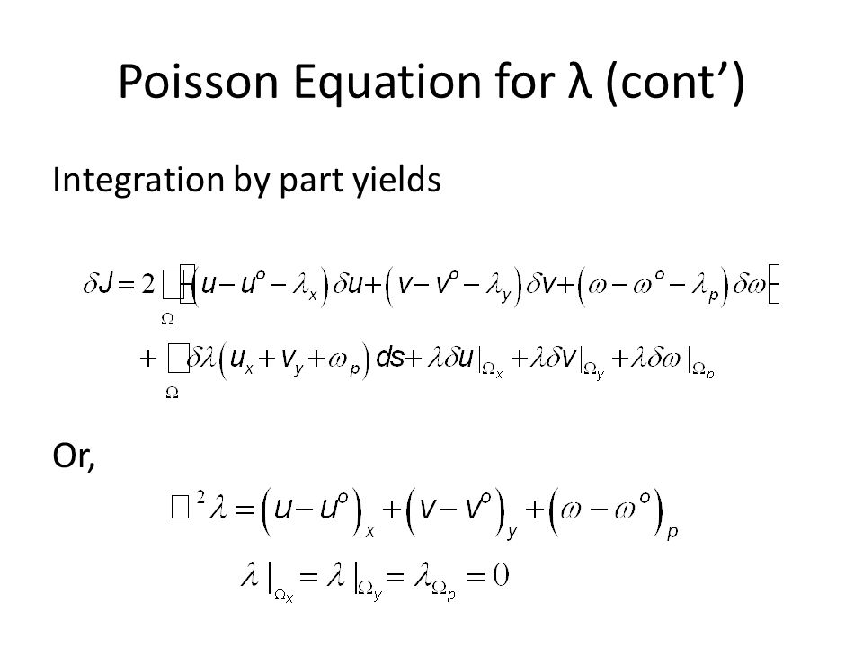 Poisson Equation for λ (cont')