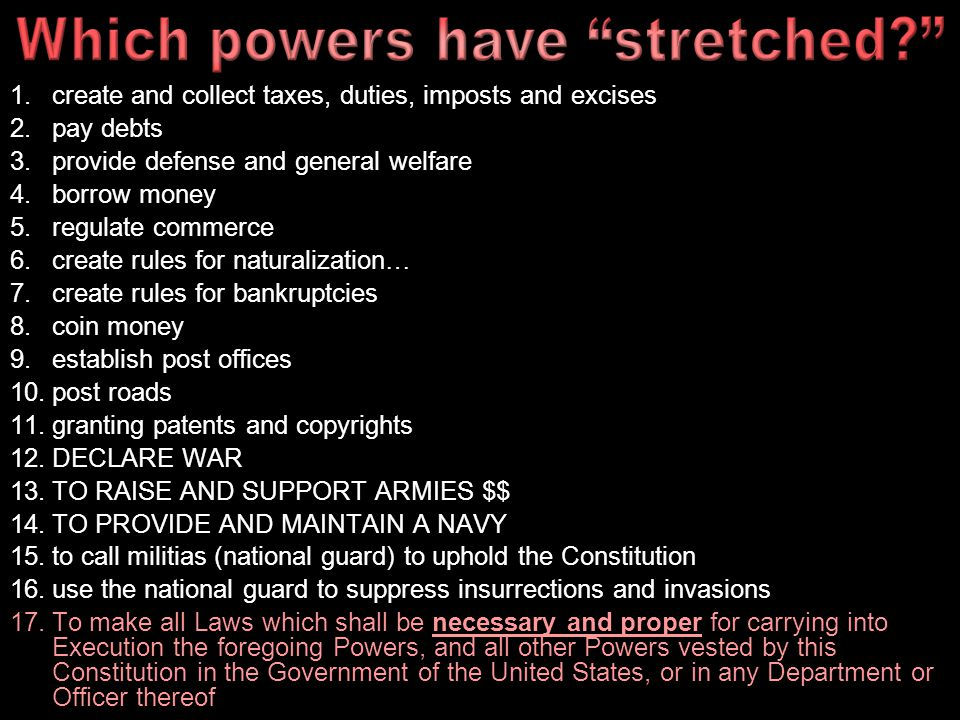 Which powers have stretched