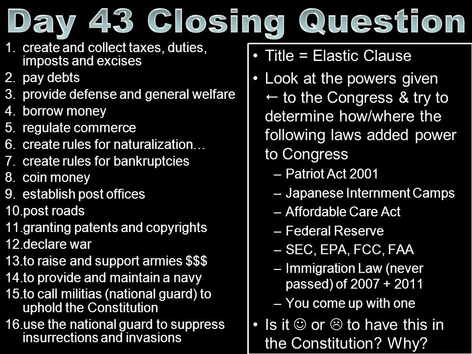 Day 43 Closing Question Title = Elastic Clause