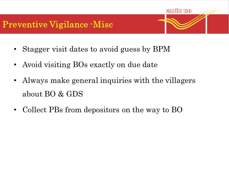 Preventive Vigilance -Misc