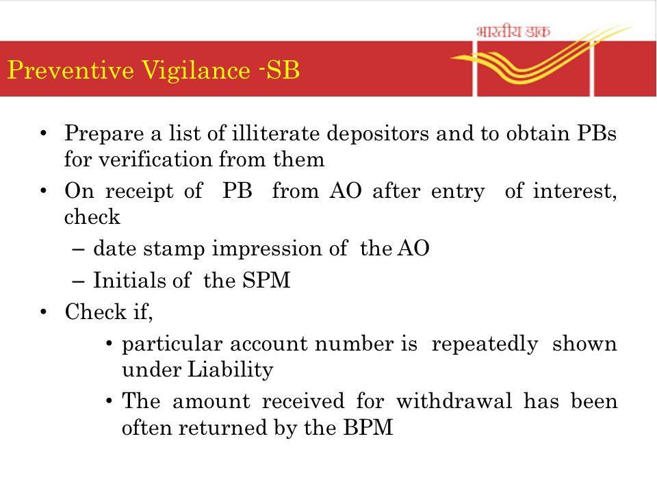 Preventive Vigilance -SB