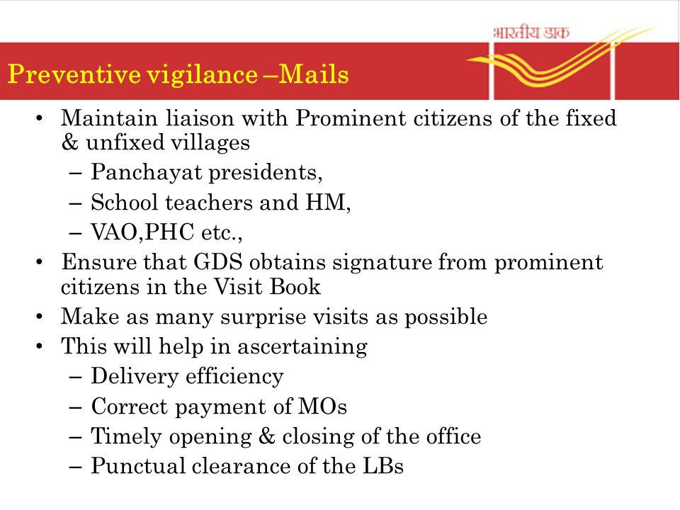 Preventive vigilance –Mails
