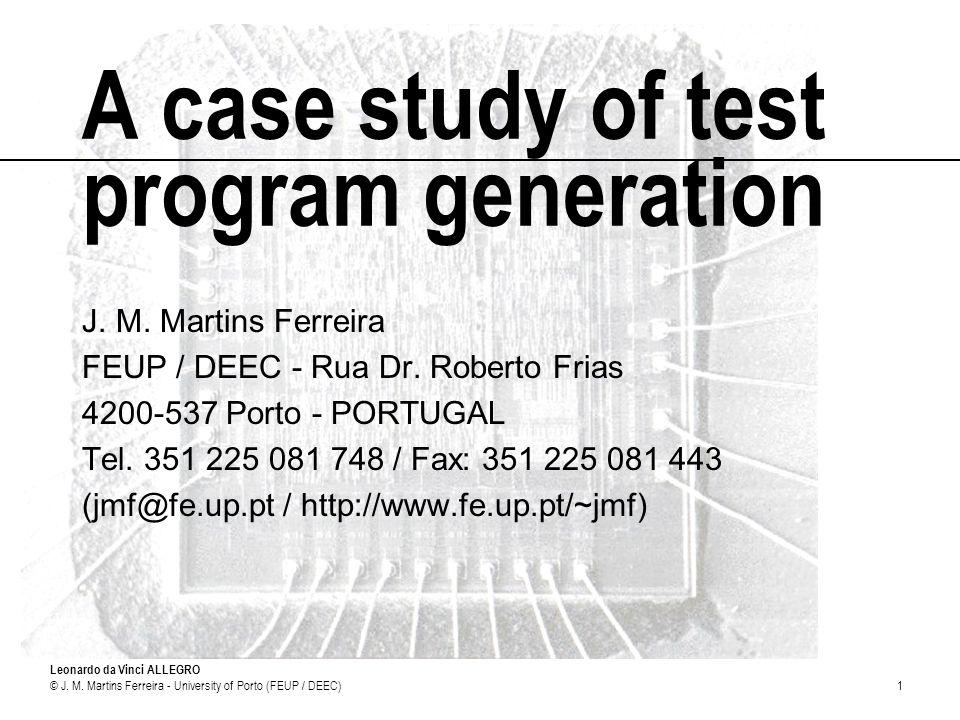 A case study of test program generation