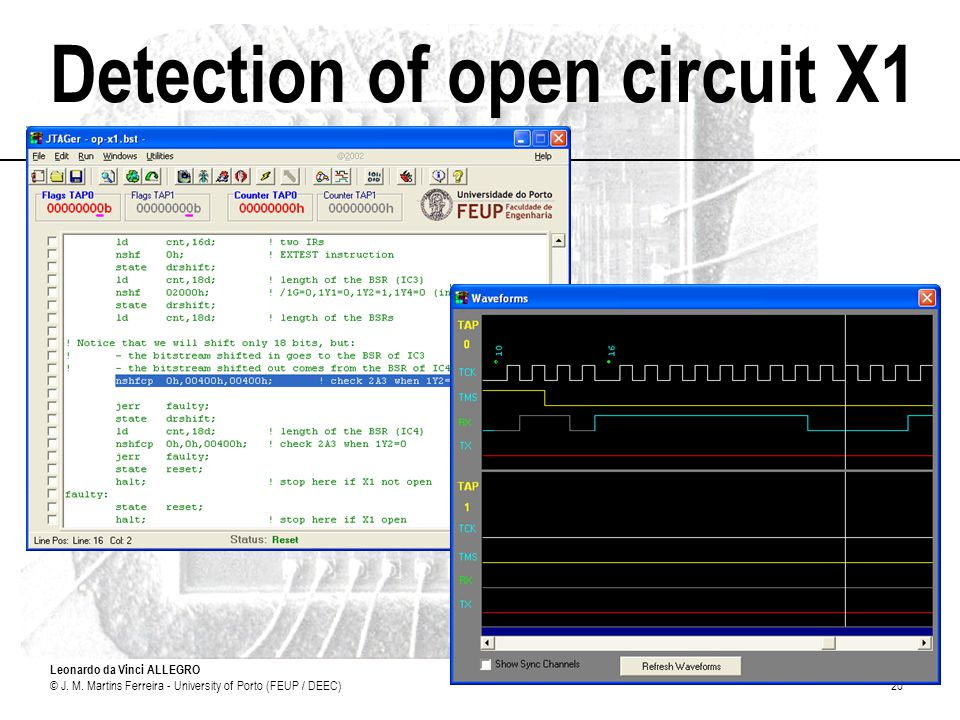 Detection of open circuit X1