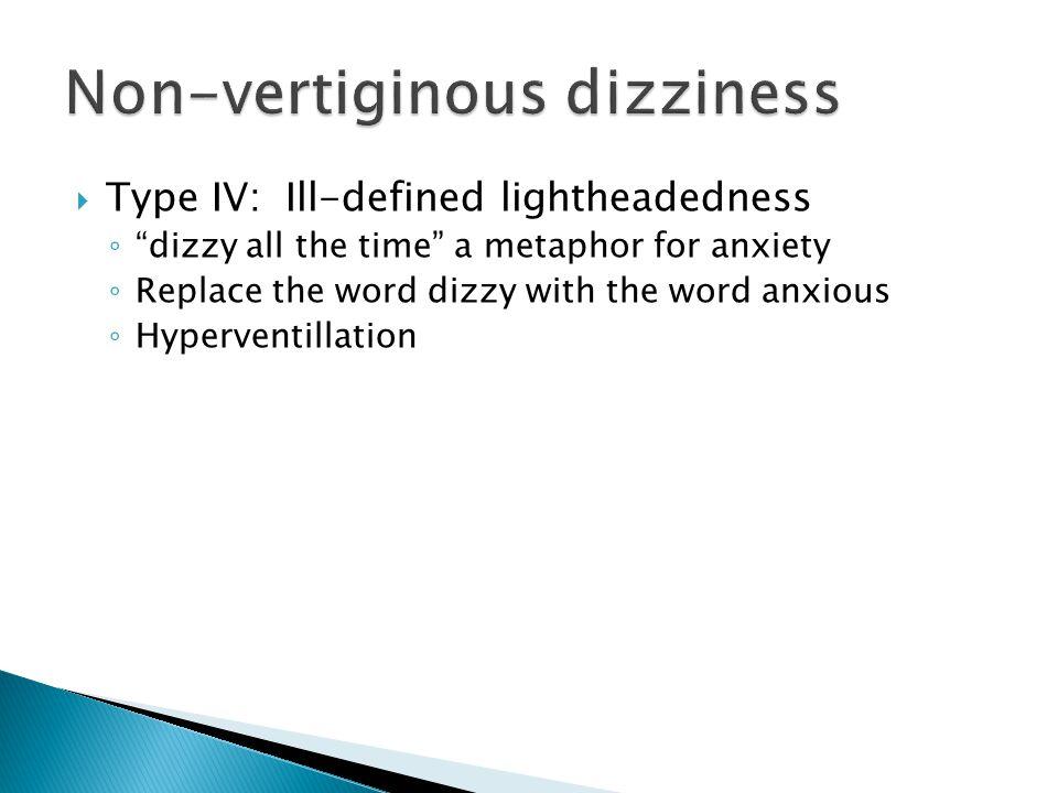 Non-vertiginous dizziness