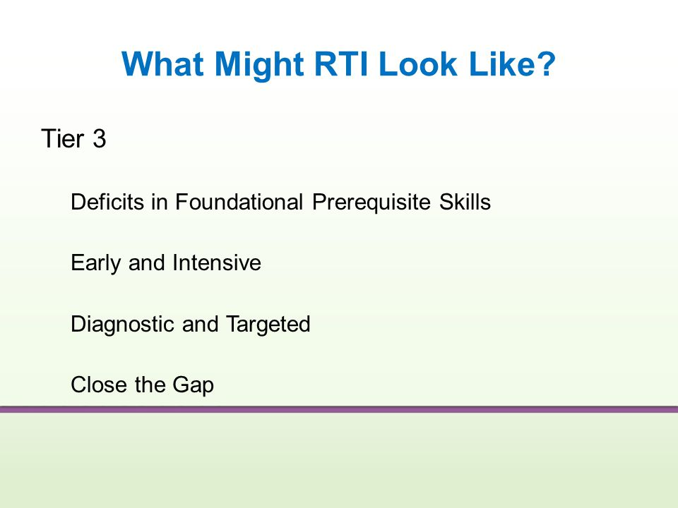 What Might RTI Look Like