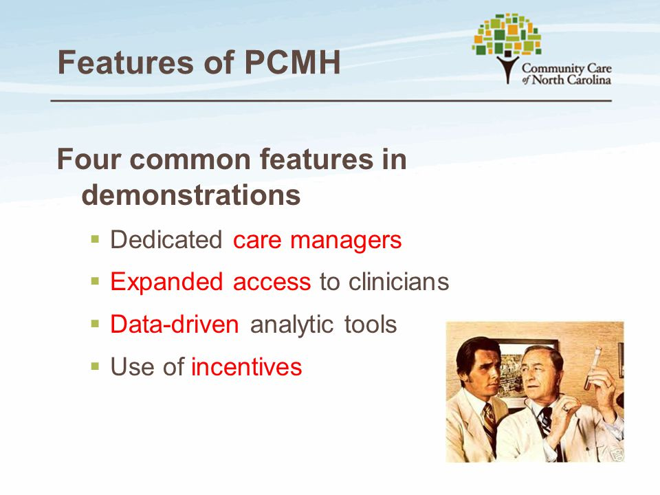 Features of PCMH Four common features in demonstrations