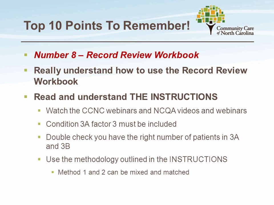 Top 10 Points To Remember! Number 8 – Record Review Workbook