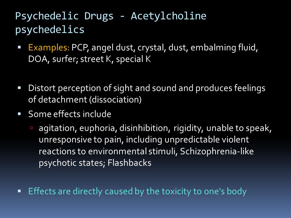 Psychedelic Drugs - Acetylcholine psychedelics