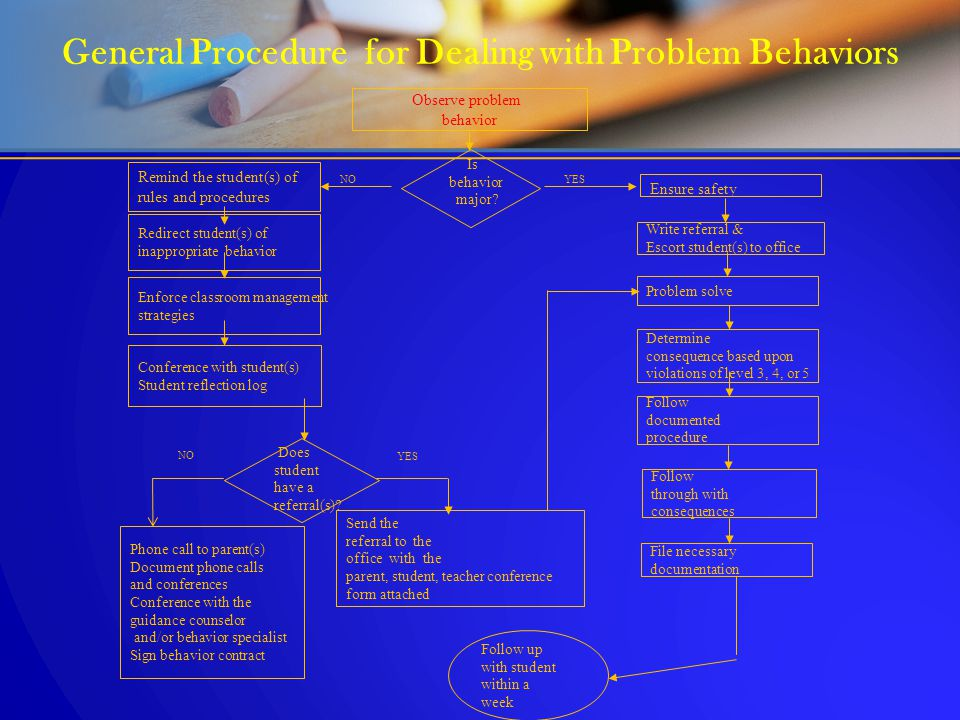 General Procedure for Dealing with Problem Behaviors