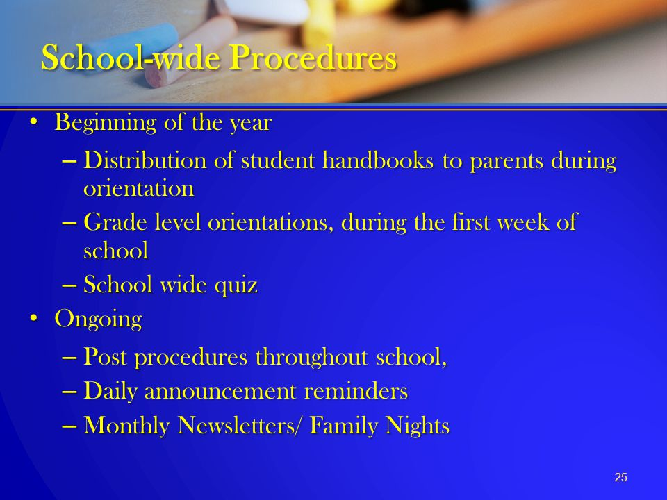 School-wide Procedures