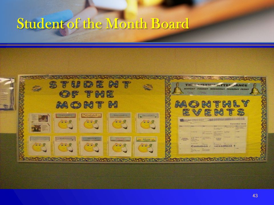 Student of the Month Board