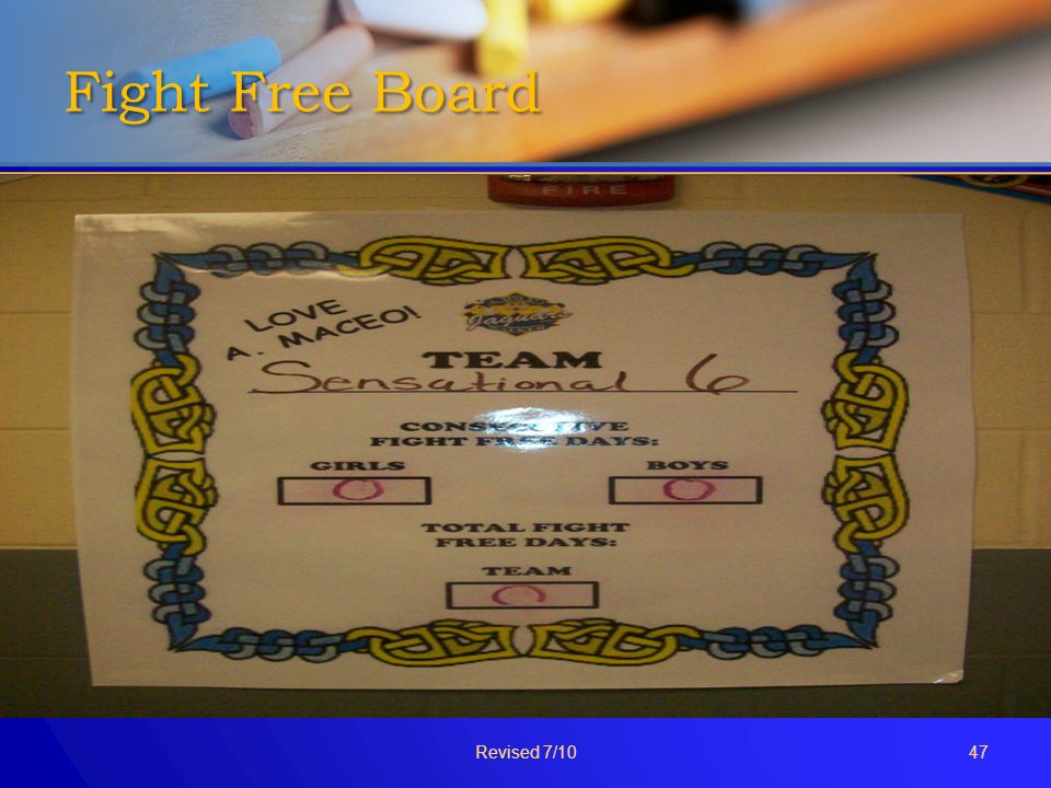 Fight Free Board Revised 7/10