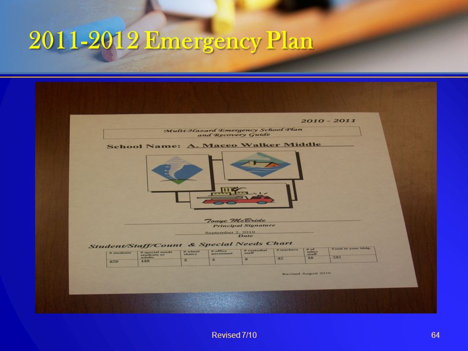 2011-2012 Emergency Plan Revised 7/10